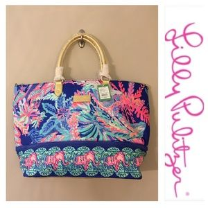 Lilly Pulitzer Weekender Travel Tote Sunset Safari